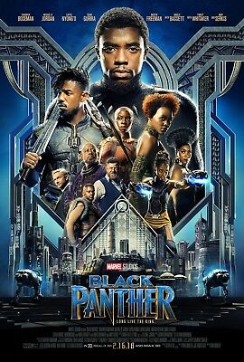 Marvel BLACK PANTHER 2018 Original DS 2 Sided 27x40 Movie Poster C Boseman MINT