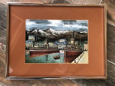 Amazing French Artist Bernard Buffet Limited Edition Drypoint Print Home Interior And Landscaping Ologienasavecom