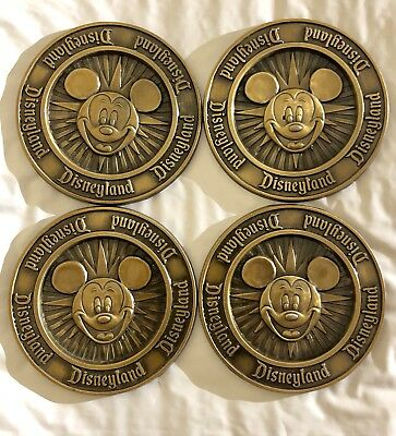 Vintage RARE Walt Disney World COASTERS Set Of 4 Mickey Mouse USA Free Shipping