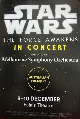 Star Wars The Force Awakens In Concert - Postcard Only Melbourne Australia