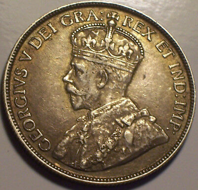 Newfoundland, Canada, 1919 - C George V Fifty Cents, 50 Cents. 306,267 Mintage.