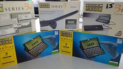 Psion series 5 + series 3 + Fax collection all boxed - Have a  L@@K!!