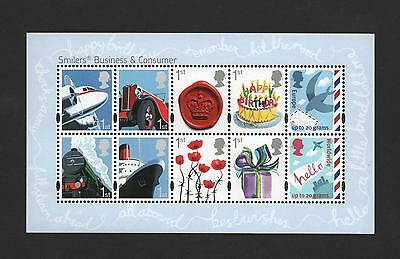 Gb 2010 Smilers 2010 Miniature Stamp Sheet Mint