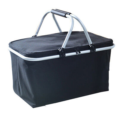 WANGDA Insulated Picnic Basket - 32L Large Size Collapsible Cooler Bag