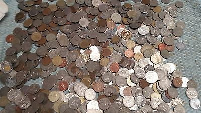 Lot/Bulk:5 Pounds Mixed Very LARGE Circulated Foreign Coins ~~~US $1.00 & bigger