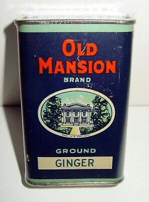 Old Mansion Brand Ginger Spice Tin - CW Antrim & Sons - Richmond, VA