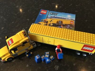 Lego City Truck 3221 100 Complete With Original Box