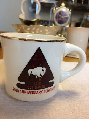 Boy Scouts of America 20th Anniversary Conclave Area 2D 2-D Vintage Coffee Cup