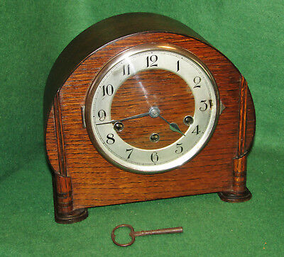 Haller Vintage Westminster Chiming mantel Clock with Key