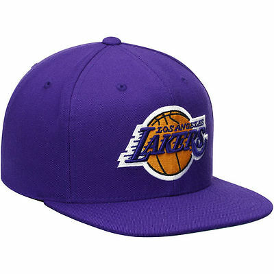 sports shoes c1838 a2d16 coupon code for mitchell ness nba los angeles lakers logo team old school  snapback cap hat