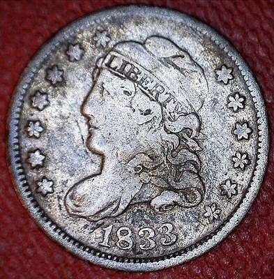 Russell Logan Collection Rarity - 1833 Lm-2 Logan-9 Capped Bust 1/2 Dime - *7962