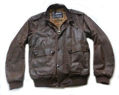 "Superb Barbour International "" Flyer "" Wax Motorcycle Jacket - Med - Vgc £215"