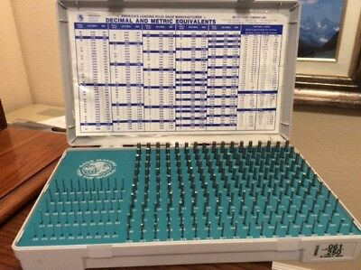 MEYER GAGE SET .O61-.250 M1 CLASS Z MINUS with decimal/metric equivalents chart