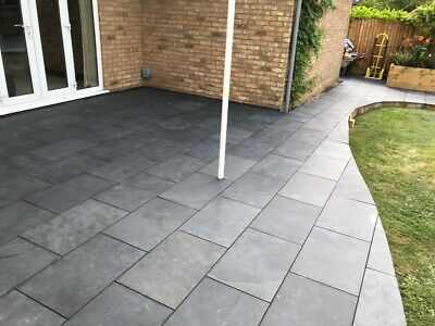 Black Slate Paving✔Patio Slabs Garden✔60 cm x 40 cm 15-20 mm thick✔FREE✔DELIVERY