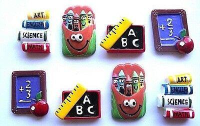 Education School Teacher Flatbacks - You Get 8 - Mixed Education Embellishments