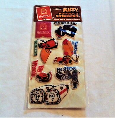 Hostess Vintage 1982 Puffy Product Stickers NIP