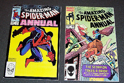 LOT 2: ANNUALS 17 + 18vfnm Stan Lee Kingpin Scorpion BAG+BD AMAZING SPIDER-MAN