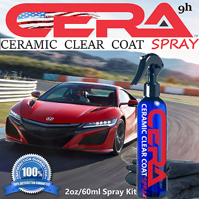 9H Ceramic Car Coating Kit Nano Quartz Anti Scratch Paint Protection Gloss Spray