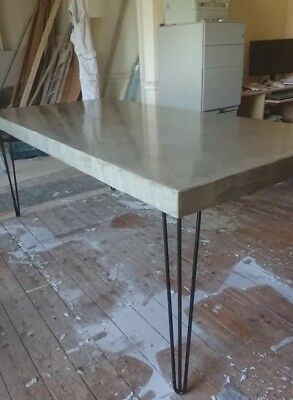 MICROCEMENT POLISHED CONCRETE dining table  *this One reduced* Can Custom  Make