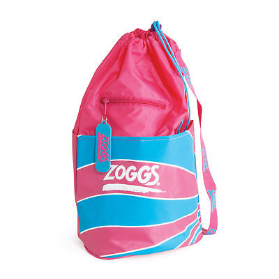Zoggs Junior Duffle Waterproof Bag with Outer Zip Pocket Pink Size 70x46 cm