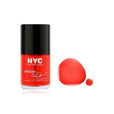 002 Cheeky Red Nyc New York Color Lip Cheek Tint Stain Lovatics Demi Lovato Ret