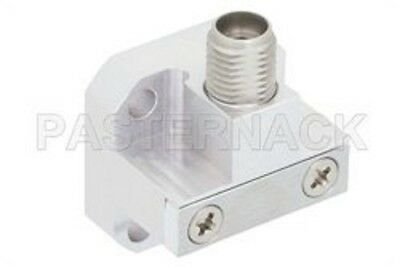 Pasternack PE9826 WR-28 Square Cover Flange to 2.92mm Adapter 26.5 GHz to 40 GHz