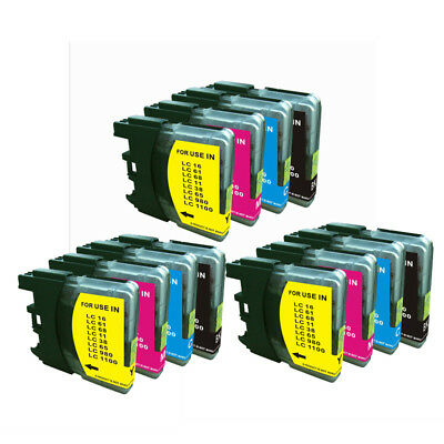 12 Ink (3set)for Brother LC61 MFC-490CW MFC-495CW MFC-295CN MFC-5490CN MFC-J415W