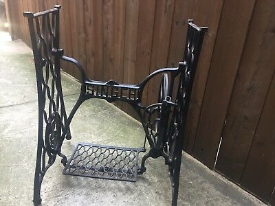 VINTAGE ANTIQUE SINGER Sewing Machine Treadle Table Base Cast Iron Classy Sewing Machine Treadle Base