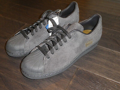 the latest 0b1c8 d450a ADIDAS SUPERSTAR 80S Clean shoes sneakers new BZ0566 black suede mens