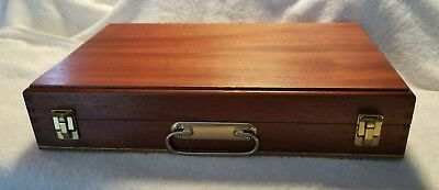 Nega File 375-NF Storage Box Organizer Slides Wood Vintage FREE SHIPPING