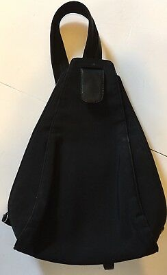 HOBO INTERNATIONAL Backpack STYLE Purse Handbag bag BLACK Leather  MICROFIBER MED 28e132ca992df