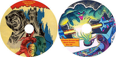 Charlton Bronze age Ghost Comics on 2 DVDs 500 Comics w/ comic reading software