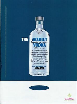 Print Ad~2006~The Absolut Vodka~Floating Bottle~Exclamation~Advertisement~H300