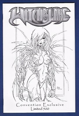 Witchblade #52  Jay Co Sketch 1/500  Variant cover 2002  Image