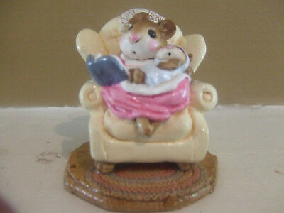 Wee Forest Folk 1982 Annete Petersen Babby Sitter Ivory Chair Pre Owned