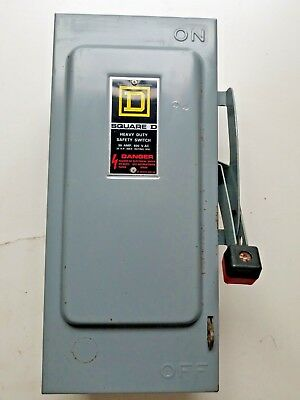 Square D Hu361 Safety Switch 30 Amp 600 Vac 30 Amp Disconnect Non Fused Ser E2