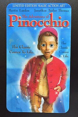 Limited Edition Movie Action Art 3D Card PINOCCHIO - Jonathon Taylor Thomas
