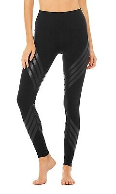 NWT Alo Yoga Women's High Waist Airbrush Legging Black Tryst Size Large
