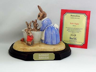 ROYAL DOULTON Bunnykins - *BATH NIGHT* DB241 - w/box and COA - Excellent