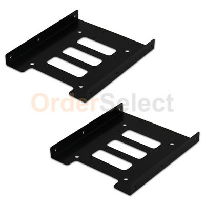"""2 2.5"""" to 3.5"""" Bay SSD Metal Hard Drive HDD Mounting Bracket Adapter Dock/Tray T"""