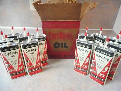 Vintage Ever-Ready Handy Oiler 4 Oz. Oil Can Nos/full Case Lot Of 12 W/box