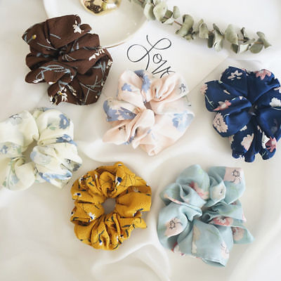 Wholesale Lady Girls Hair Scrunchies Bun Ring Elastic Fashion Scrunchie Donut
