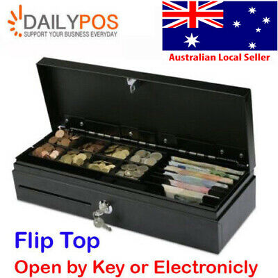 DailyPOS Flip Top Open Cash Drawer Electronic For POS Cash Register