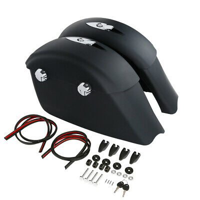 Matte Black Saddle Bags Electronic Latch For Indian Chieftain 2014-18 Dark Horse