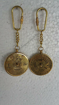 Pair Of Vintage Nautical Solid Brass Finish Key Chains Best Quality
