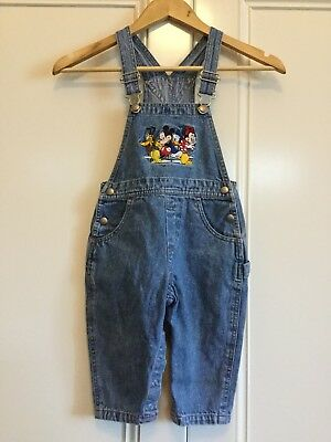 Disney Store Denim Overalls Size 24months Size 2 Years Boy Or Girl