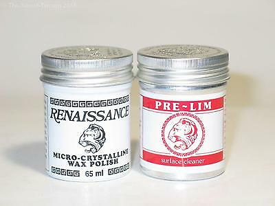 Pre-Lim Surface Cleaner & Renaissance wax, 65ml Cans