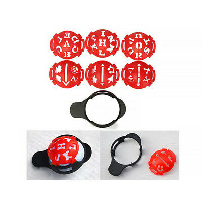 Plastic Golf Ball Line Liner Marker Template Drawing Alignment Mark Sign Tool AU