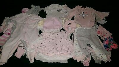 bulk baby girl clothes 0-3 months approx 50 items