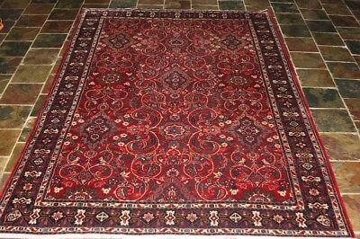 CIRCA 50's GORGEOUS RED  313X210 JOSHAGHAN  PERSIAN RUG